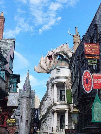 Harry Potter WizardingworldofHarryPotter Gringotts Dragon Diagon Alley