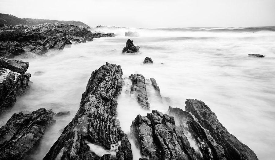 Rock formations at coast