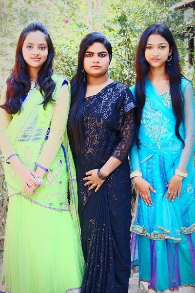 Enjoying wedding with cousins 🎎Indian Rural India Indian Style Assam Faces Of EyeEm Asian Culture