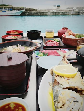 Seafoods by the sea always taste so much better.Food Outdoors Sea Seafoods