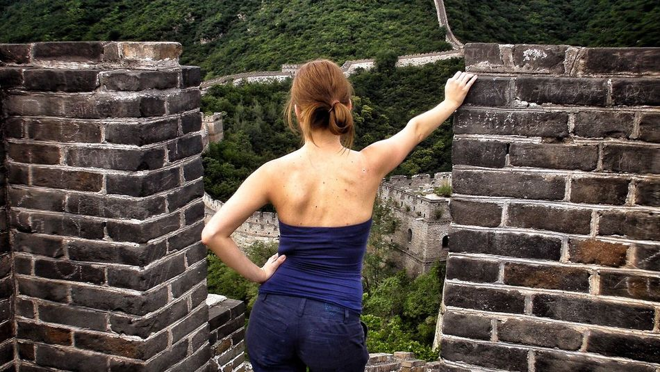 The Great Wall and the girl Summer Exploratorium Go Higher Found On The Roll China ASIA Thegreatwall Feel The Journey China In My Eyes Girl Power Adventure Club People And Places. People And Places Finding New Frontiers Uniqueness Long Goodbye Neighborhood Map Live For The Story