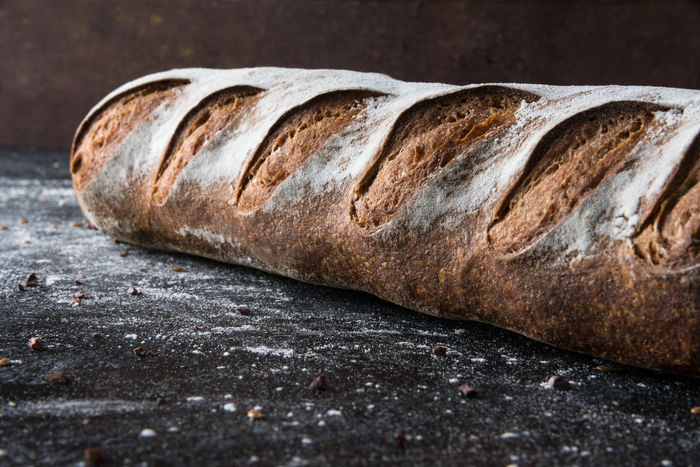 Miche Baguette Bread Country Dark Rustic Baguette Baked Bread Brown Bread Close-up Food French Loaf Of Bread Miche Moody No People Sourdough