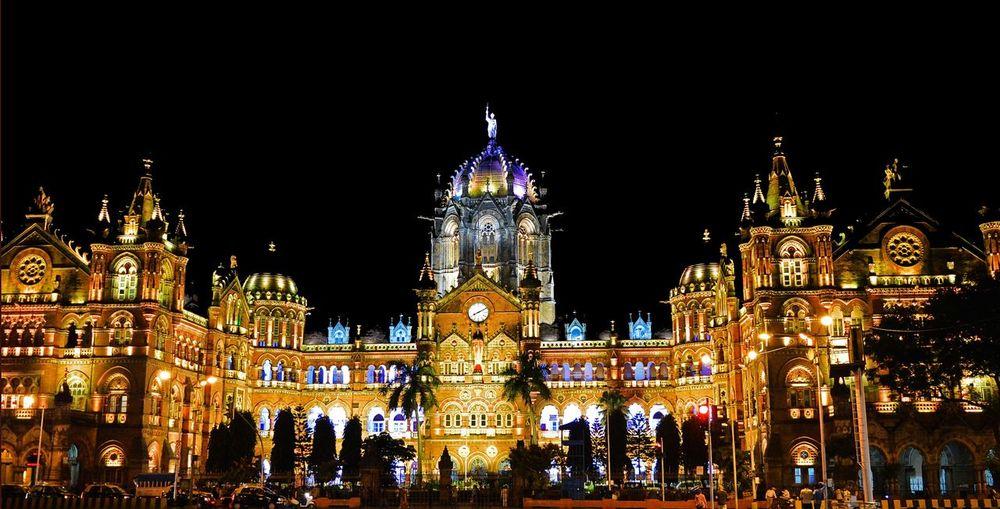 Cities At Night Mumbai MumbaiDiaries Mumbaimerijaan Mumbai_igers Mumbai_in_clicks Chatrapatishivajiterminus CST Centralrailway Centralrailwaystation Lights Night Lights Night Life Architecture EyeEmNewHere