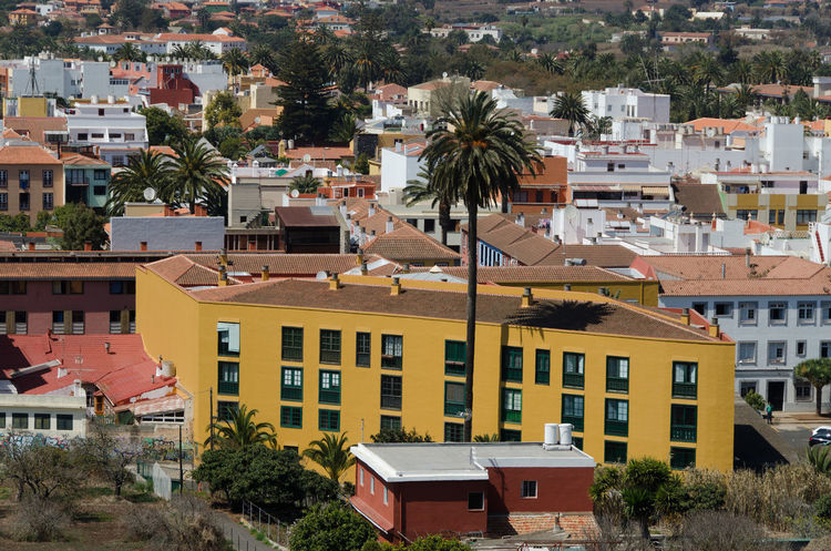 Architecture Building Exterior Built Structure City Cityscape Day High Angle View House No People Outdoors Residential Building Roof Tenerife Tenerife Island Teneriffa Town Tree