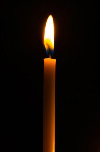 Candle yellow