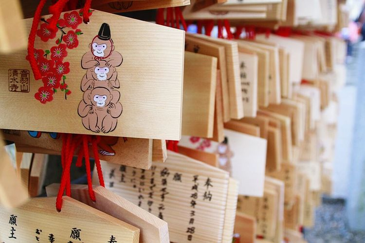 Japan Koyto Wish Wishlist EMA 繪馬 清水寺