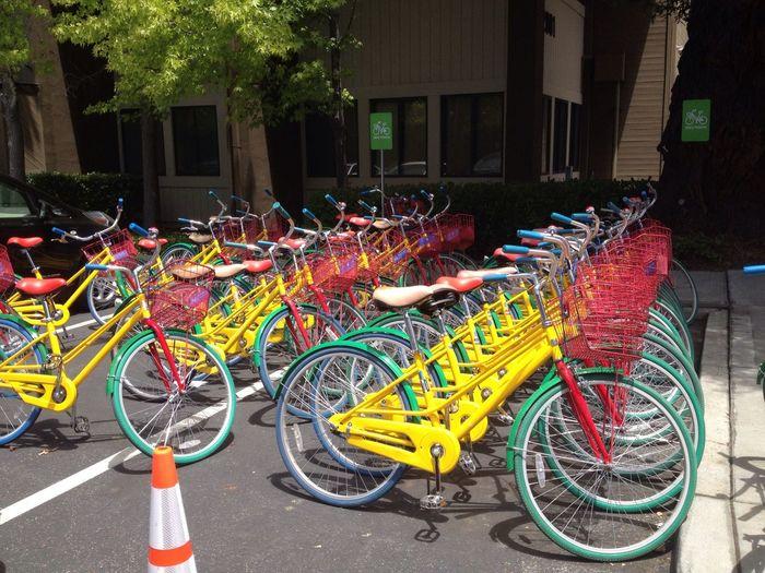 Google Fleet Google Headquarters Primary Colors Bicycles