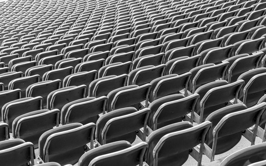 Full frame shot of chairs at stadium