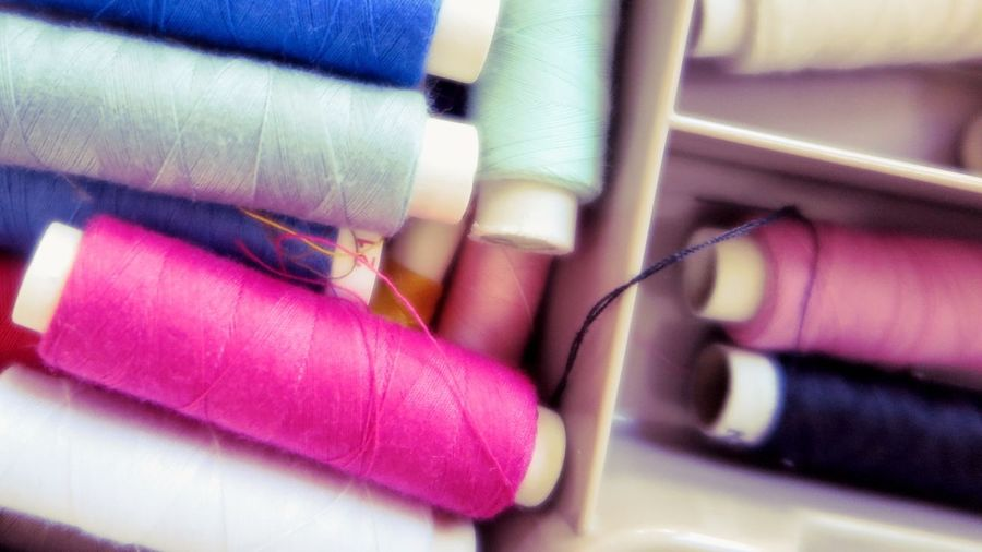 Yarn Sewing Colourful Pink On The Role Taking Photos Household Household Goods Homework EyeEm Gallery Still Life Colour Full Frame Directly Above No People