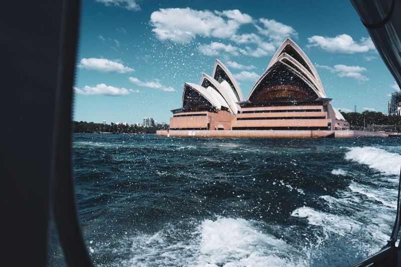 Out on a short cruise in sydney Australia Sydney Opera House Sky Cloud - Sky Water Architecture Nature Transportation Built Structure Building Exterior Day Sea Outdoors Mode Of Transportation Travel Building Ship Cruise Ship