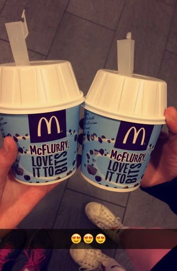 Mc Donald's with my BFF😍👭😙