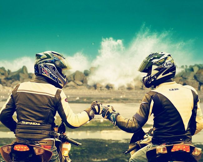 Brotherhood Two People Headwear Activity Adults Only Young Adult Togetherness Real People Sport Competition People Physical Activity Men Outdoors Only Men Rivalry Competitive Sport Adventure Adult Day Motorcycle Racing First Eyeem Photo