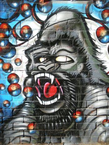 Graffiti Streetart Gorilla RAD