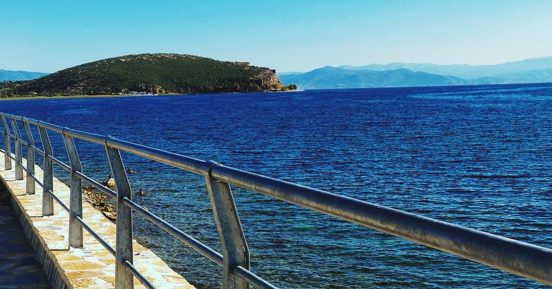 Lake Ohrid Day Outdoors No People Blue Mountain Water Nature Scenics Sky Clear Sky Beauty In Nature Pogradec EyeEmNewHere ALBANIA❤️