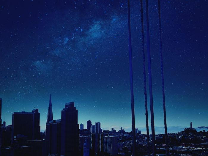 Night sky drop Check This Out City Urban California Sanfrancisco Views Cali Roadtrip Enjoying Life Edit Filter TBT  Space Stars Golden State Warriors Golden State Sanfran Buildings Buildings & Sky Sky