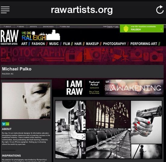 """I'll be a featured artist at the first RAW Artists event of 2014 at the Lincoln Theater in Raleigh. Get your tickets now, then come say """"hi!l https://www.rawartists.org/mpalko Check This Out AMPt_community AMPTeam.org"""