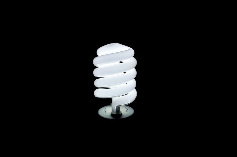 Let there be light No People Electricity  Black Background Illuminated Energy Efficient Indoors  Close-up CFL Lamp