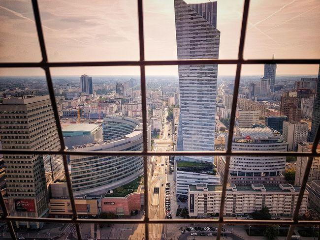 Warszawa, City Sunset Sky Architecture Built Structure