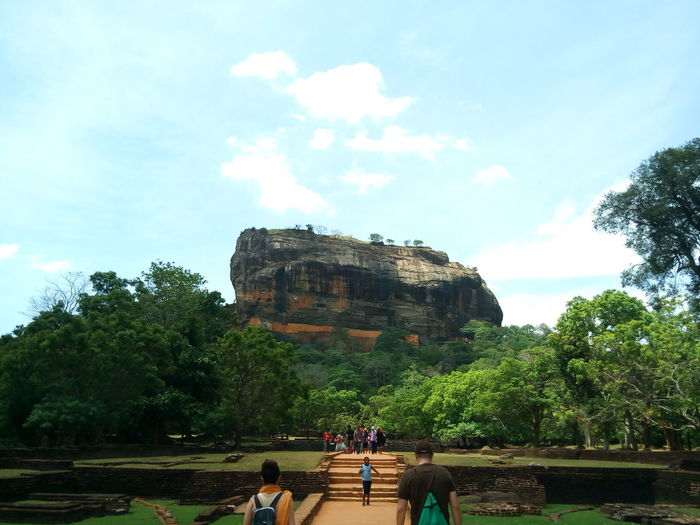 Ancient Ancient Civilization Architecture Built Structure Castle Cloud Cloud - Sky Day Famous Place History Nature Old Old Ruin Outdoors Rock Formation Sigiriya Sky Temple The Past Tourism Tourist Tranquility Travel Destinations Tree Vacations