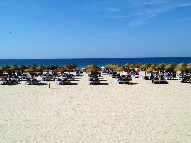 Beach Sand Sea Mer Mar Playa Plage Summer VERANO 2017 Vacances Vacaciones Vacations Blue Parasols Cádiz, Spain 青空と海 南スペイン パラソル 砂辺 海水浴 夏の思い出