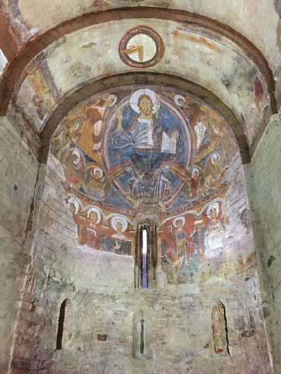 España SPAIN Catalonia Catalunya Medieval World Heritage Heritage Romanico Romanic Pantocrator Sant Climent Tahüll Pirineos Architecture Built Structure Art And Craft Religion Belief Place Of Worship Building Spirituality Human Representation Creativity Mural History The Past Fresco Wall - Building Feature