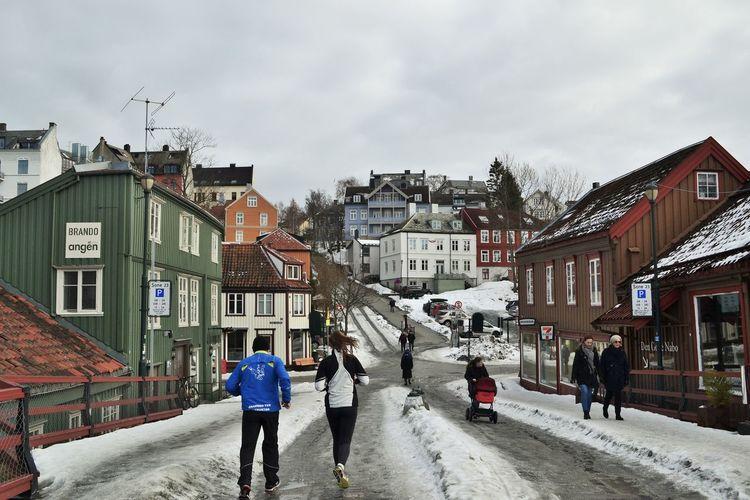 Winter Trondheim Gamlebybro Snow ❄ Snow Sport In The City Scandinavia Norway