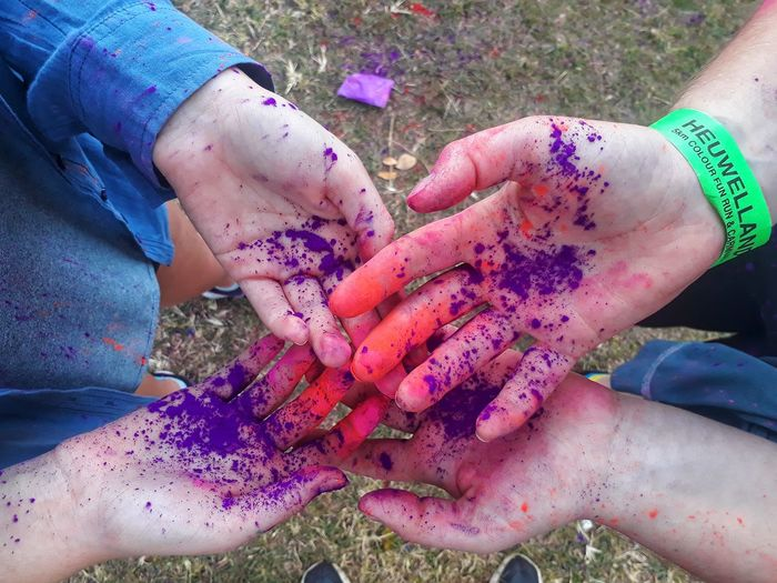 Powder Paint Togetherness Multi Colored Sand Painted