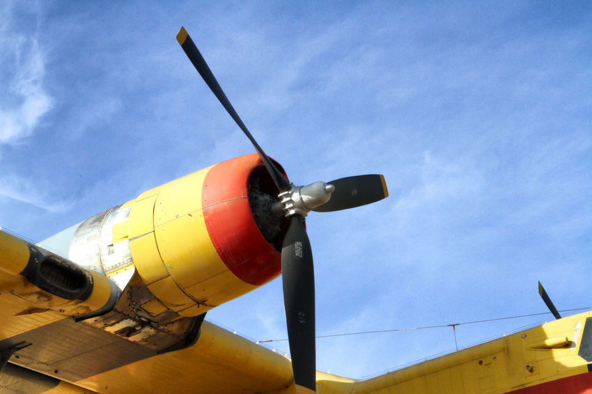 Blue Bomber Canadair Cloud Cloud - Sky Day Details High Section Low Angle View Multi Colored No People Outdoors Plane Propeller Propeller Plane Sky Water Bomber