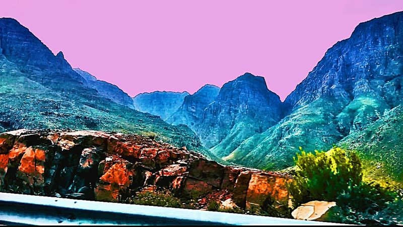 Mountain View Taking Photos Landscape Sky