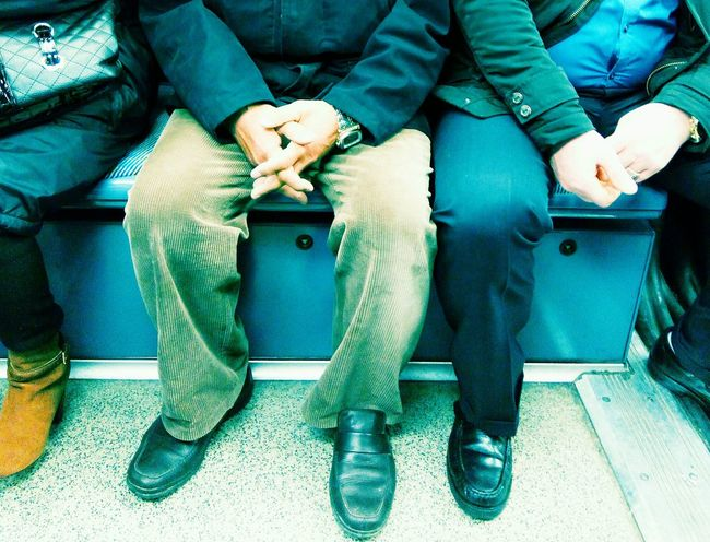 Holding Hands Showcase: February Legs_only Commuting Paris, France  Parisian Chic Metro Ratp Trousers Low Boots SuedeShoes Pastel Power Up Close Street Photography The Street Photographer - 2016 EyeEm Awards My Commute Colour Of Life