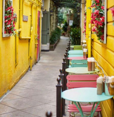 Colors... Door Architecture Built Structure Day No People Building Exterior Outdoors Color Alleyway Cafe Dining Dining Table Cafe Time Cafetables Outside Stories From The City EyeEmNewHere