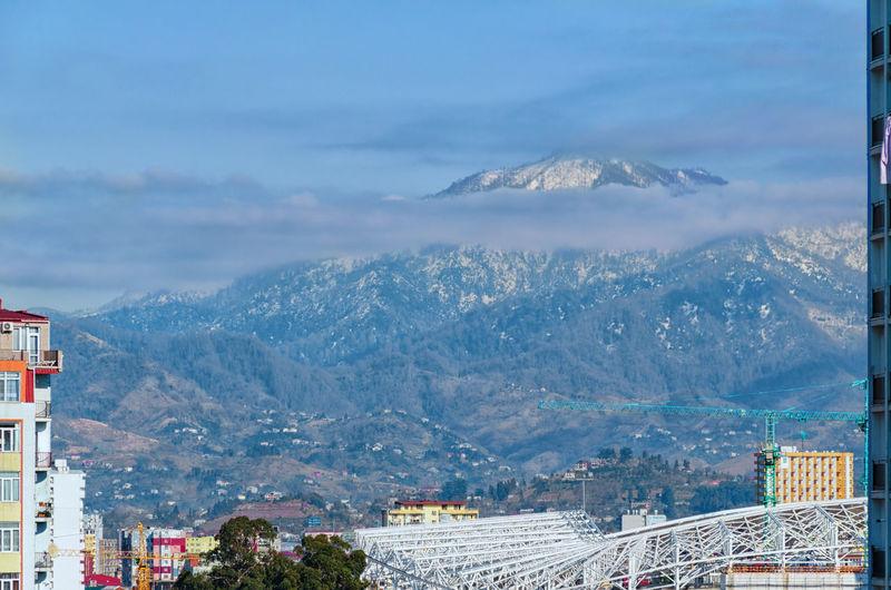 Hills against