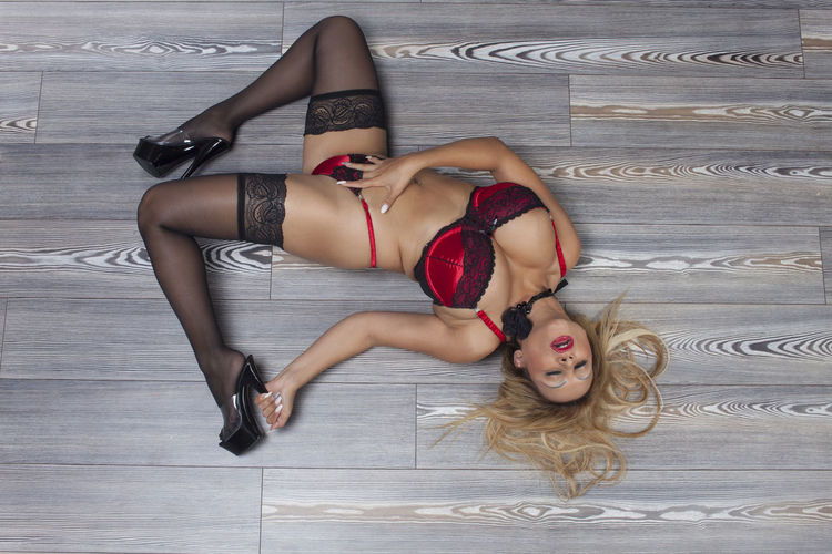 Beautiful Woman Beauty Bikini Blonde Day Erotic_photo Full Length Lying Lying Down Lying On Back One Person Outdoors Parquet Floor People Real People Underwear😈 Young Adult Young Women