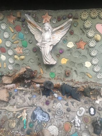 Human Representation Spirituality Art And Craft Male Likeness Religion Statue No People High Angle View Sculpture Mosaic Ceramic Angels Angel Quirky Kitsch Treasure Shells Day Close-up