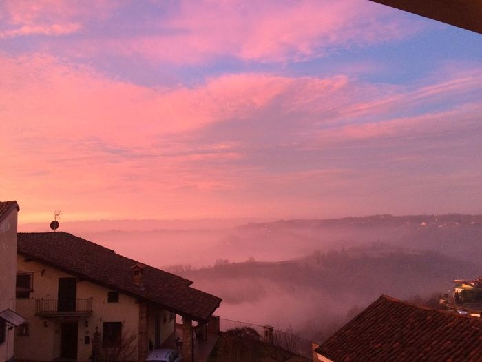 Nofilter Blue Sky Italy Roero Piemonte Cielo Sunrise Pink Clouds And Sky First Eyeem Photo Landscape With Whitewall The Week On EyeEm