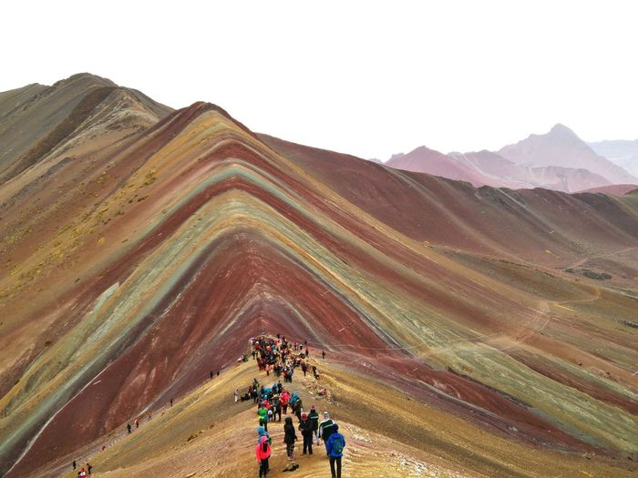The Rainbow Mountains in Peru Viewpoint Andes Mountains Peru Vacations Beauty In Nature Outdoors Mountain Nature Landscape Mountain Range Rainbow Mountain First Eyeem Photo Colors Rainbow Travel Destinations Travel Lost In The Landscape