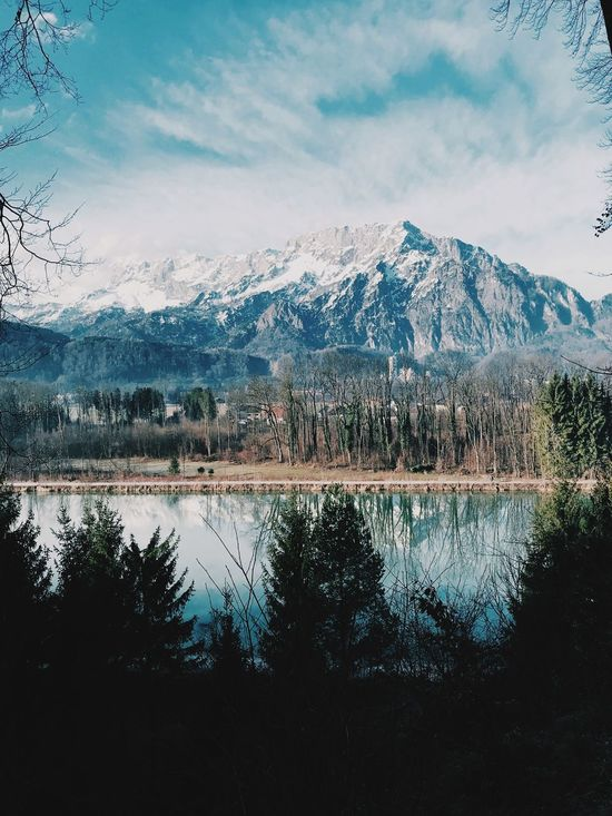Salzburg in Winter. Water and mountains are mesmerising and calming at the same time. River Mountain Beauty In Nature Mountain Range Nature Scenics Shades Of Winter Sky Landscape No People Snowcapped Mountain
