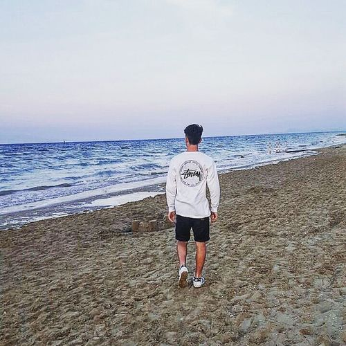 Little Castle Will You Ever Resist From The Siege Of The Sea ? Photo Of The Day Summer Sea Beach Sunshine ☀ Horizon Over Water Sand One Man Only Full Length Only Men One Person Adult T-shirt Outdoors Standing Day