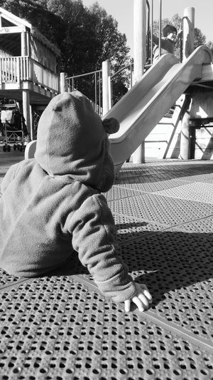 Parklife Playground Childhood Kids Kids Playing Outdoors Out&bout Close-up Blackandwhite Photography PhonePhotography