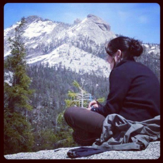 In Yosemite during high school♥ Highschool Yosemite Youngme Naturegirl hippyschool hippyfun mountain