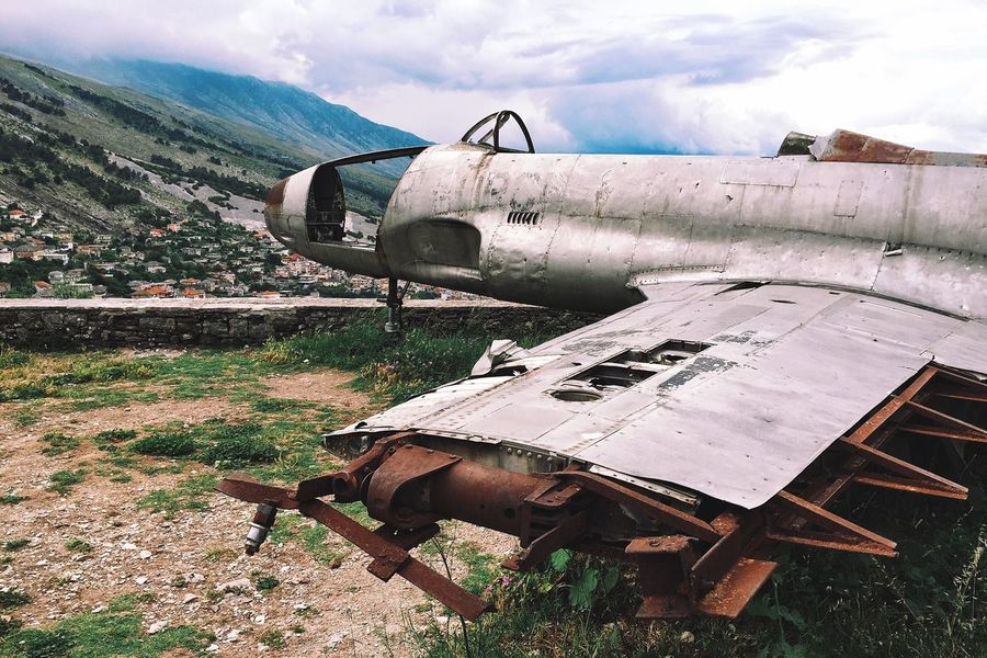 Gjirokaster Albania Airplane Abandoned Airplane Crash Airplanes