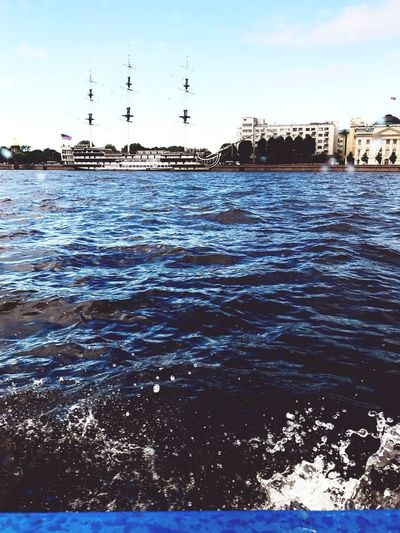 Built Structure Architecture Sky Building Exterior Waterfront Outdoors Day Sea Water Nature No People Nautical Vessel City Mast Санкт-Петербург Saint Petersburg Beautiful EyeEm Gallery Eyeemphotography Blue Sea