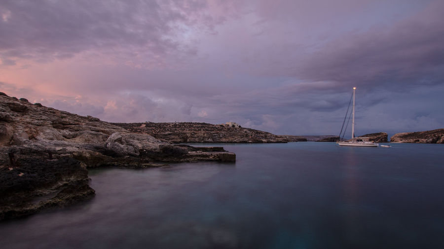 Comino Island Malta Mediterranean Sea Beauty In Nature Cloud - Sky Clouds Comino Day Early Morning Island Landscape Long Exposure Nature No People Outdoors Scenics Sea Sky Tranquil Scene Tranquility Water Waterfront
