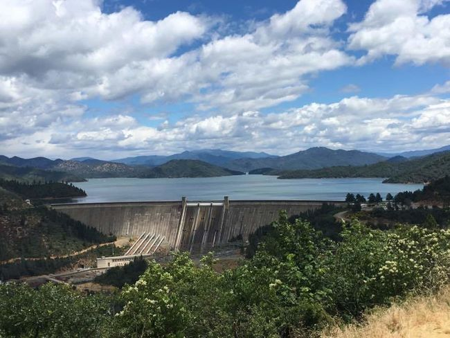 Shasta Dam Scenics No People Travel Destinations Mountain Range Lake Outdoors Water Nature Beauty In Nature Sky
