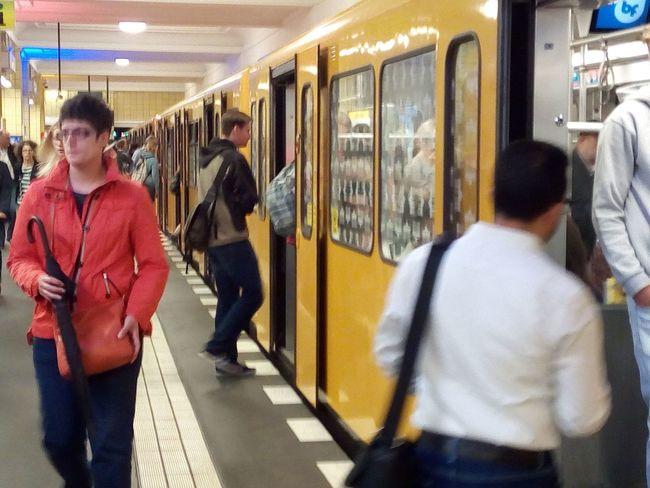 U-Bahhof Friedrichstrasse Berufsverkehr Public Transportation Rail Transportation Real People Subway Train Train - Vehicle Transportation