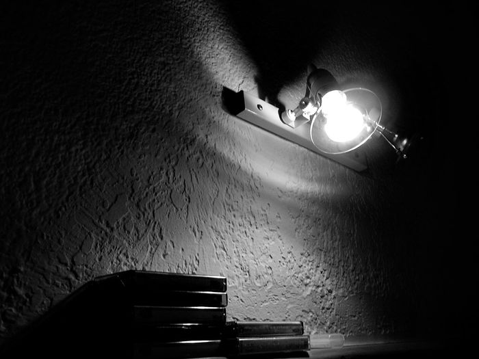 Black And White Black And White Photography Casette Casette Is Not Dead Casettes Illuminated Indoors  Lamp Lighting Equipment Night No People Retro Retro Style Shadows & Lights Shadows On The Wall Wall Wintage Wintage Filter