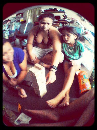 Jenga With My Sibs (;