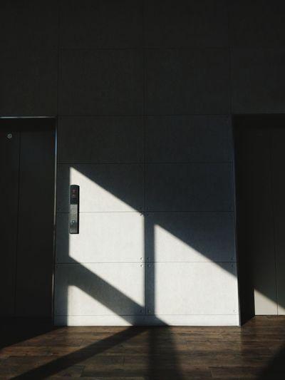 Shadow of sunlight on wall