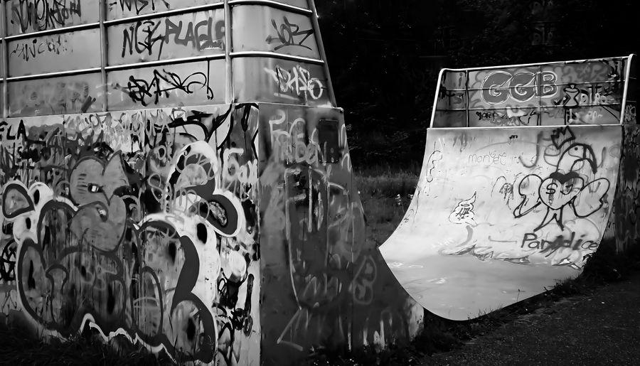 Skateboard ramp Graffiti Street Art Day Outdoors No People Abstract Skatepark Skateboard Park Skatephotography Ramps Skate Park Ramp