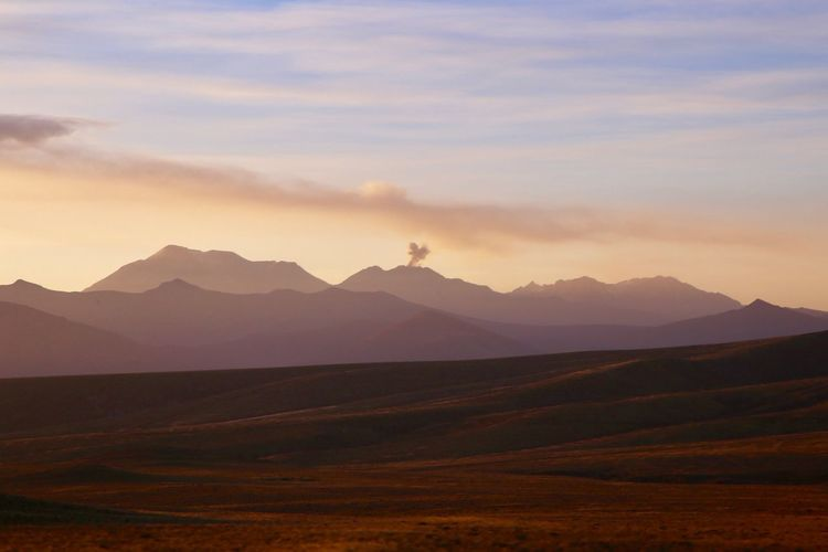 Golden Hour Vulcan Mountain Sky Beauty In Nature Scenics - Nature Landscape Tranquility Tranquil Scene No People Beauty In Nature Sunset Nature
